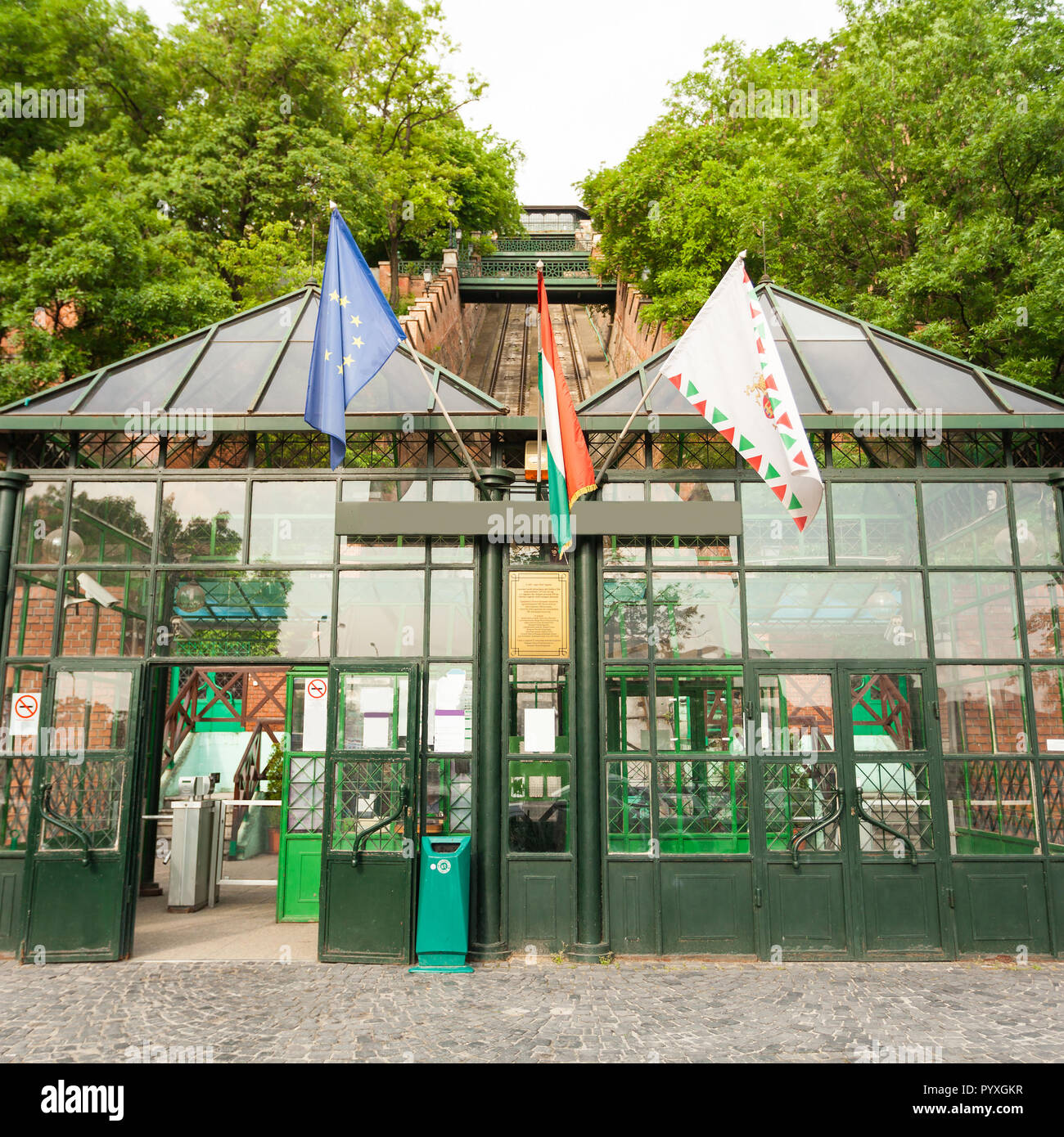 Budapest Castle Hill Funicular. Hungary Stock Photo