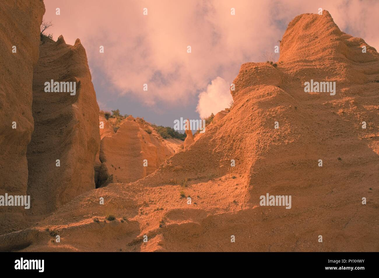 Lame Rosse, the Italian Canyon (Fiastra, Marche, Italy) - Stock Image