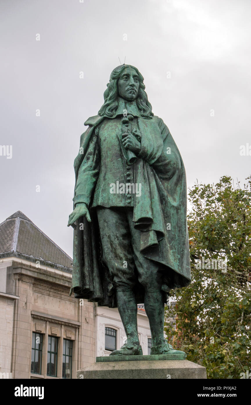Statue Of Johan De Witt At Den Haag The Netherlands 2018 - Stock Image