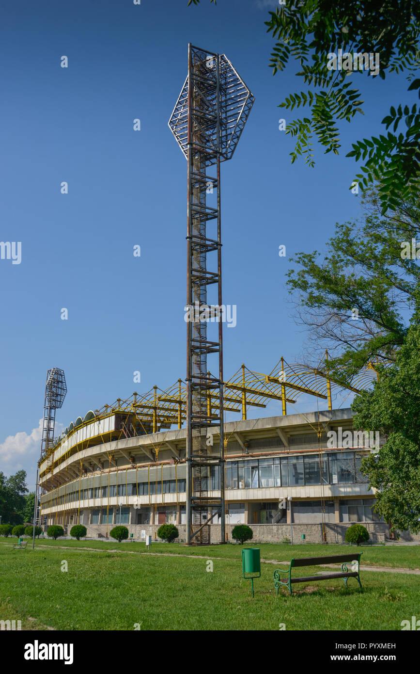 Football stadium, Plovdiv, Bulgaria, Fussballstadion, Bulgarien - Stock Image