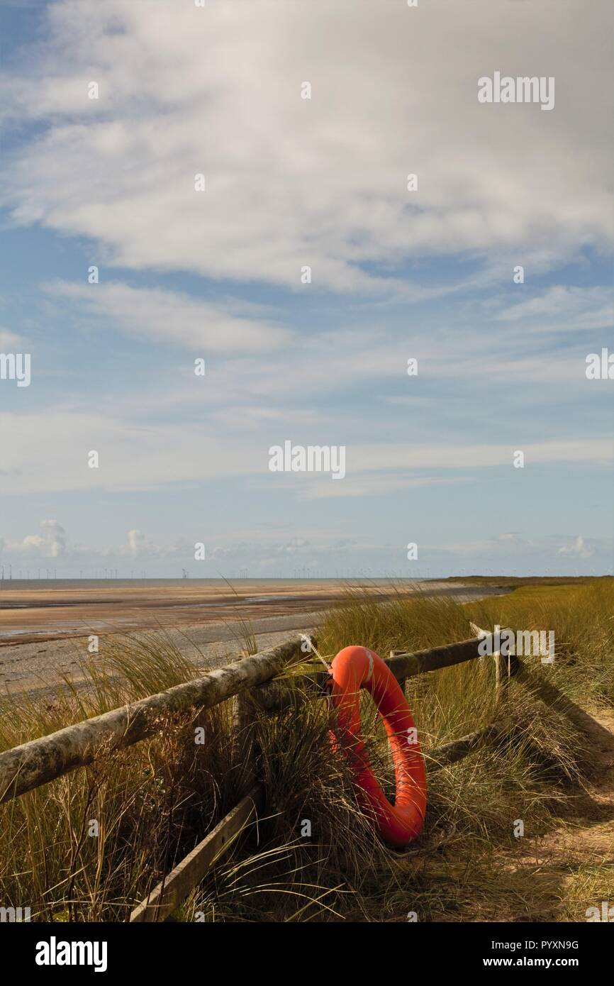 UK Walney Island. View from the far South of Walney Island on the Cumbrian Coast UK. - Stock Image