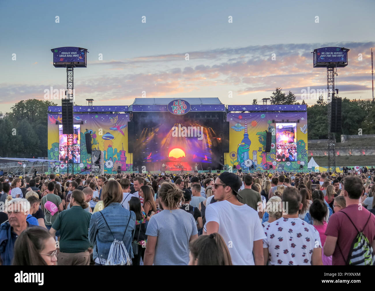 Concert Imagine Dragons, Lollapalooza festival, Olympic stadium, Westend, Berlin, Germany, Konzert Imagine Dragons, Lollapalooza-Festival, Olympiastad - Stock Image