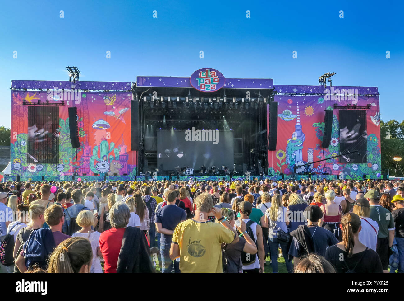Concert Liam Gallagher, Lollapalooza festival, Olympic stadium, Westend, Berlin, Germany, Konzert Liam Gallagher, Lollapalooza-Festival, Olympiastadio - Stock Image