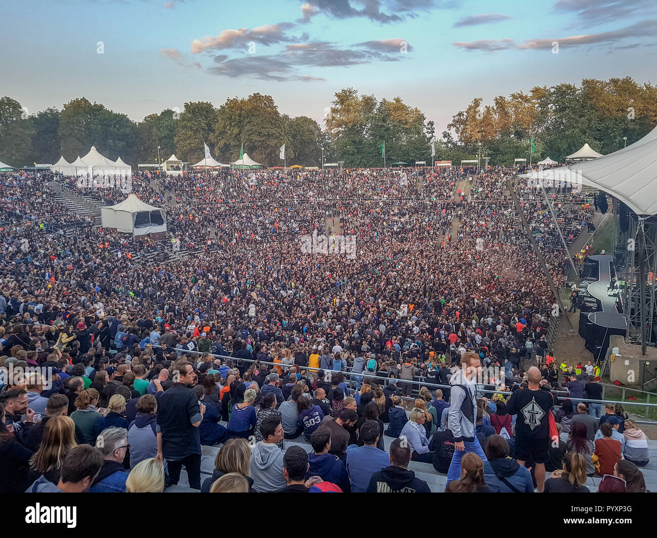Concert, beat steaks, Kindl stage, Wuhlheide, Berlin, Germany, Konzert, Beatsteaks, Kindl-Buehne, Deutschland - Stock Image