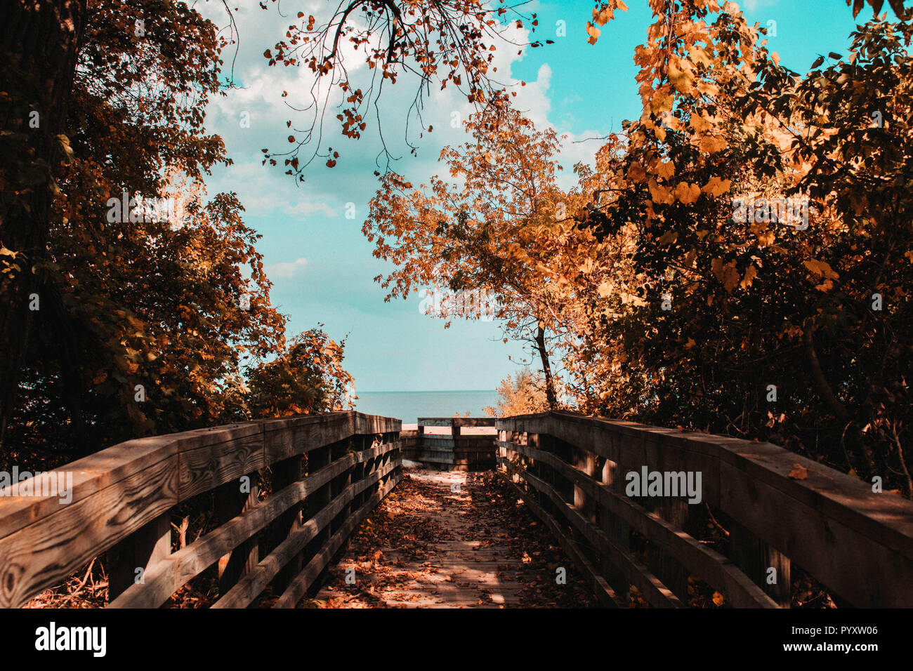 Pathway to the Great Lakes - Stock Image