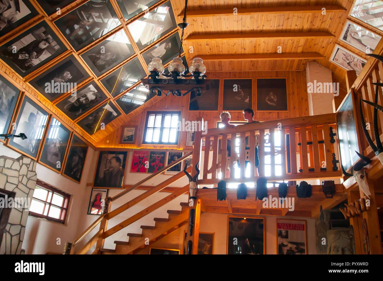 Cisna, Poland, July 2018  Famous Siekierezada bar in Cisna