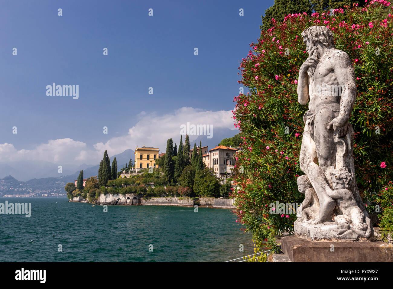 Statue in the gardens of Villa Monastero at Varenna on Lake Como, ItalyStock Photo