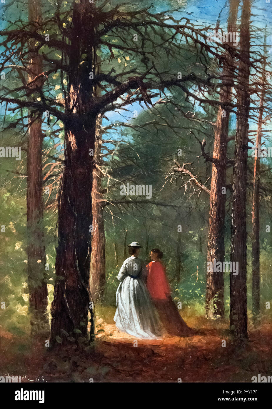 Waverly Oaks by Winslow Homer (1836-1910), oil on paper mounted on panel, 1864 - Stock Image