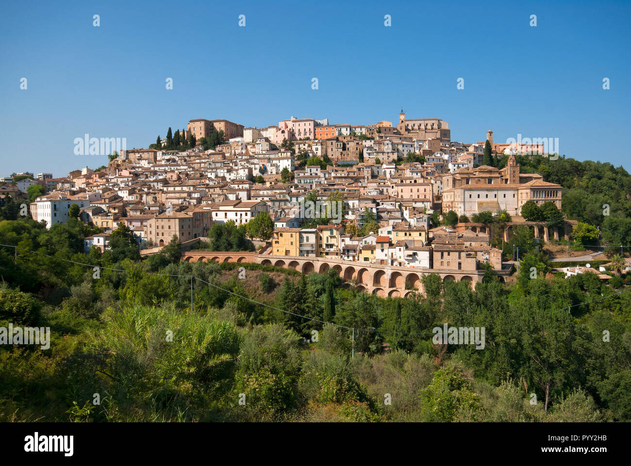 View of Loreto Aprutino, Abruzzo, Italy - Stock Image
