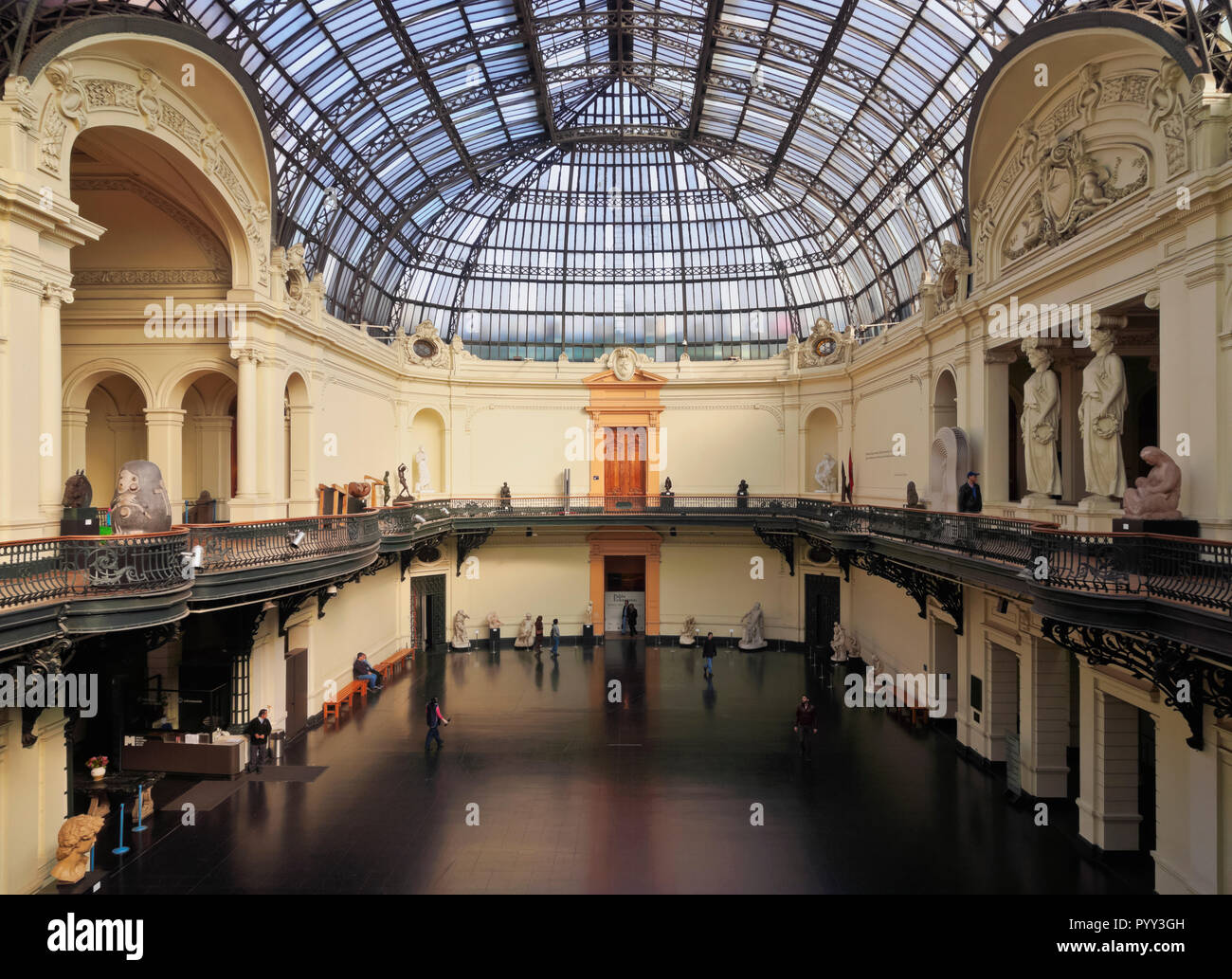 Chilean National Museum of Fine Arts, MNBA, interior, Santiago de Chile, Chile - Stock Image