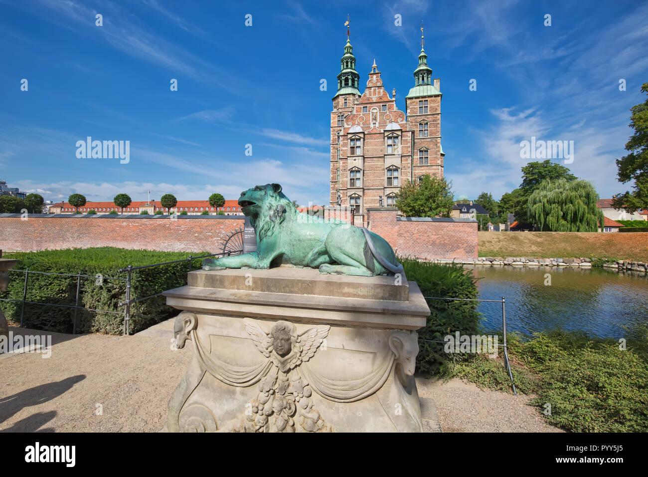 Copenhagen famous Rosenborg castle - Stock Image