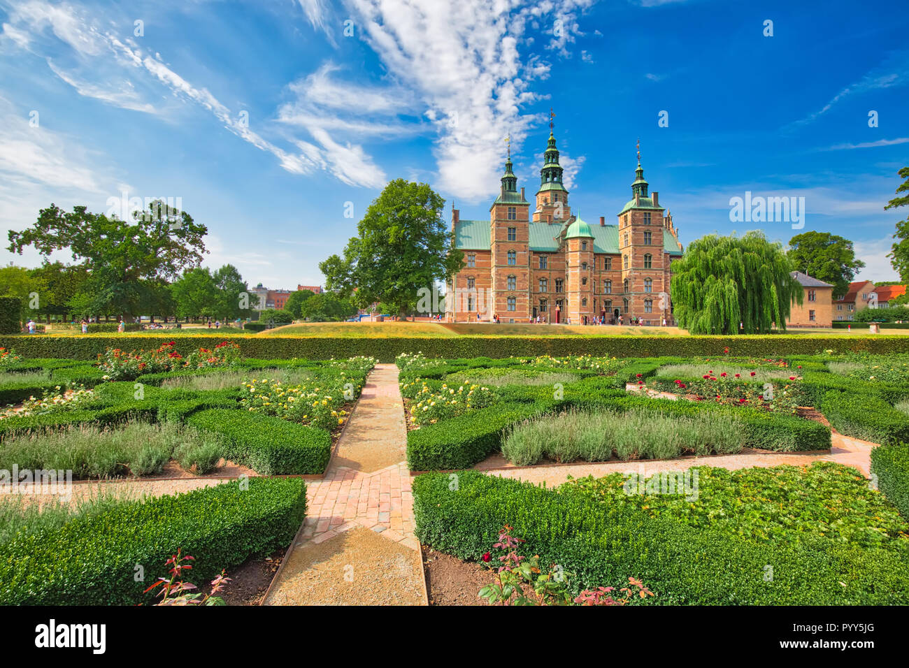 King Garden, the oldest and most visited park in Copenhagen, Denmark-located near Rosenborg Palace Stock Photo