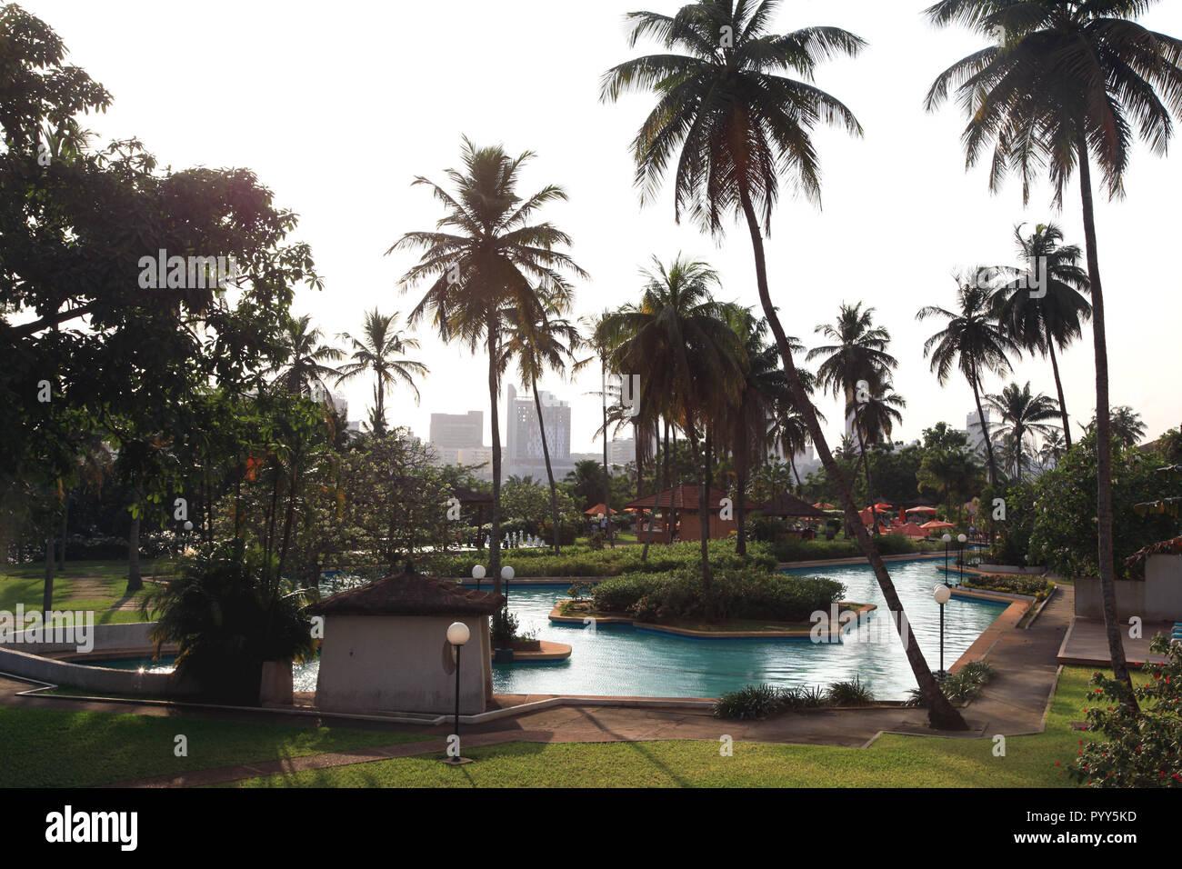 Pools at Sofitel, Abidjan, Cote d'Ivoire - Stock Image