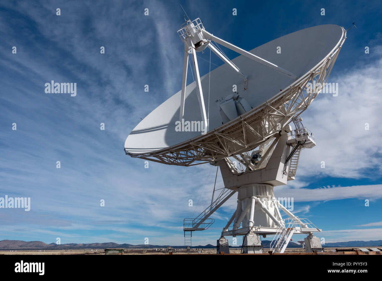 Very Large Array (VLA) Radio Telescopes in New Mexico, USA Stock Photo