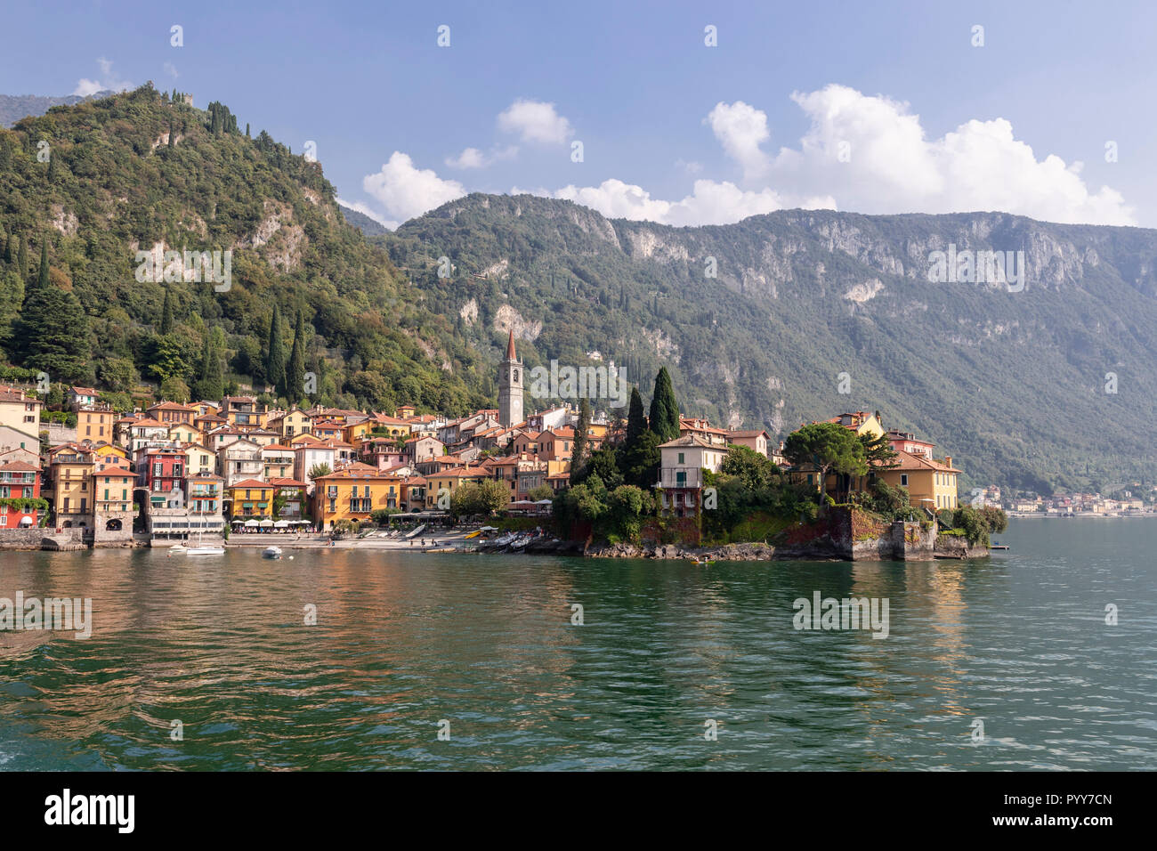 The town of Varenna on Lake Como in northern ItalyStock Photo