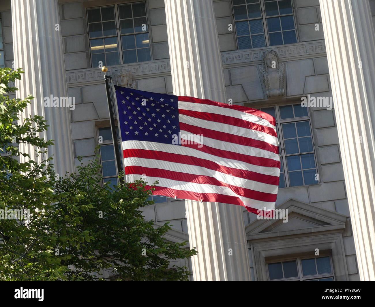 UNITED STATES FLAG Old Glory in Washington, D.C. Photo: Tony Gale - Stock Image
