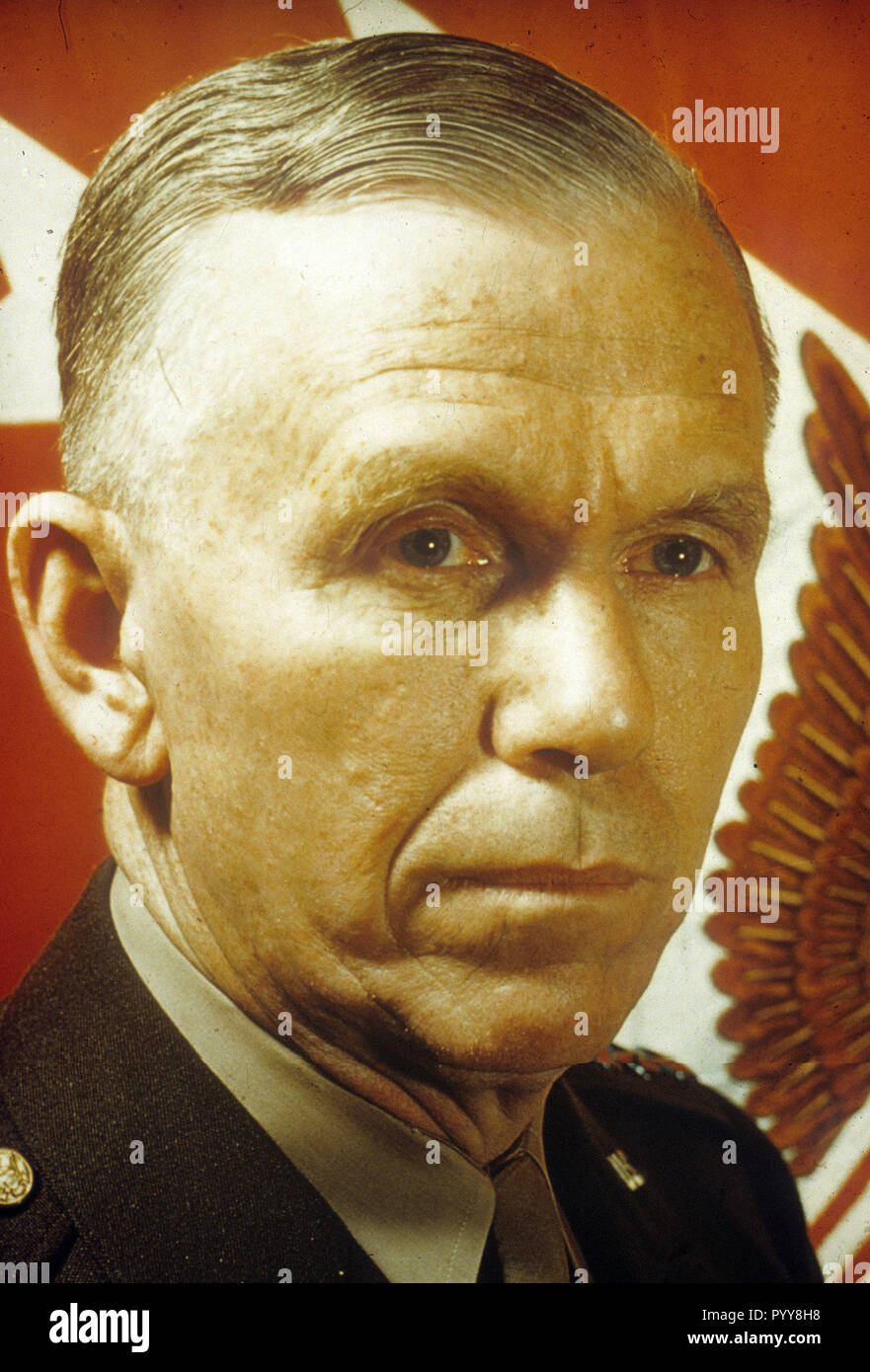 GEORGE C. MARSHALL (1880-1959) American soldier and statesman about 1944 - Stock Image