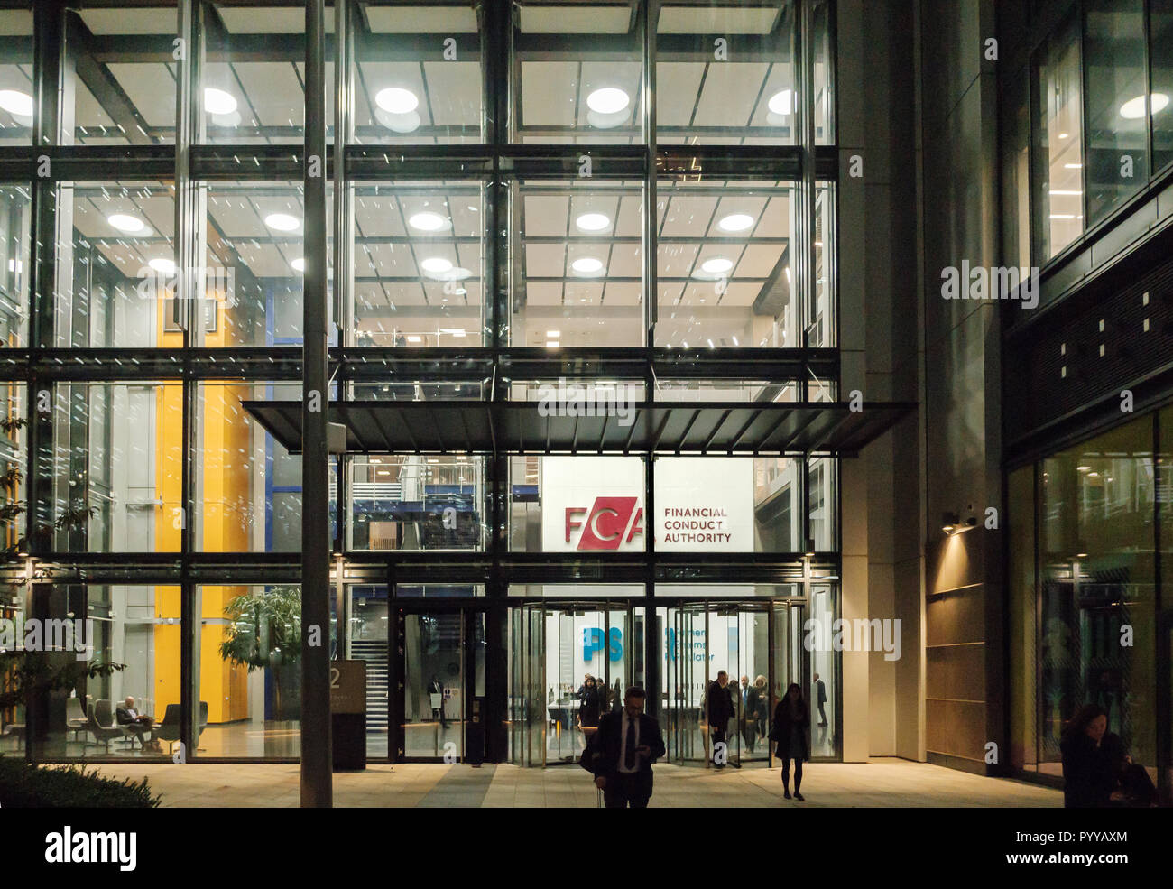 The new UK Financial Conduct Authority headquarters office building at 12 Endeavour Square, International Quarter, Stratford, East London, 2018 Stock Photo