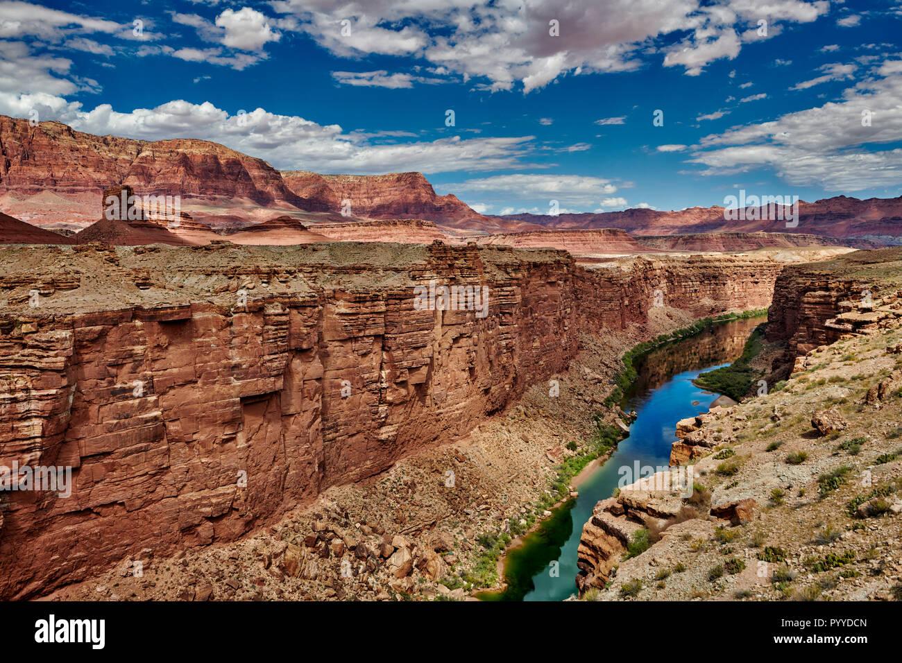 Marble Canyon and Vermillion Cliffs, Arizona, USA, North America Stock Photo