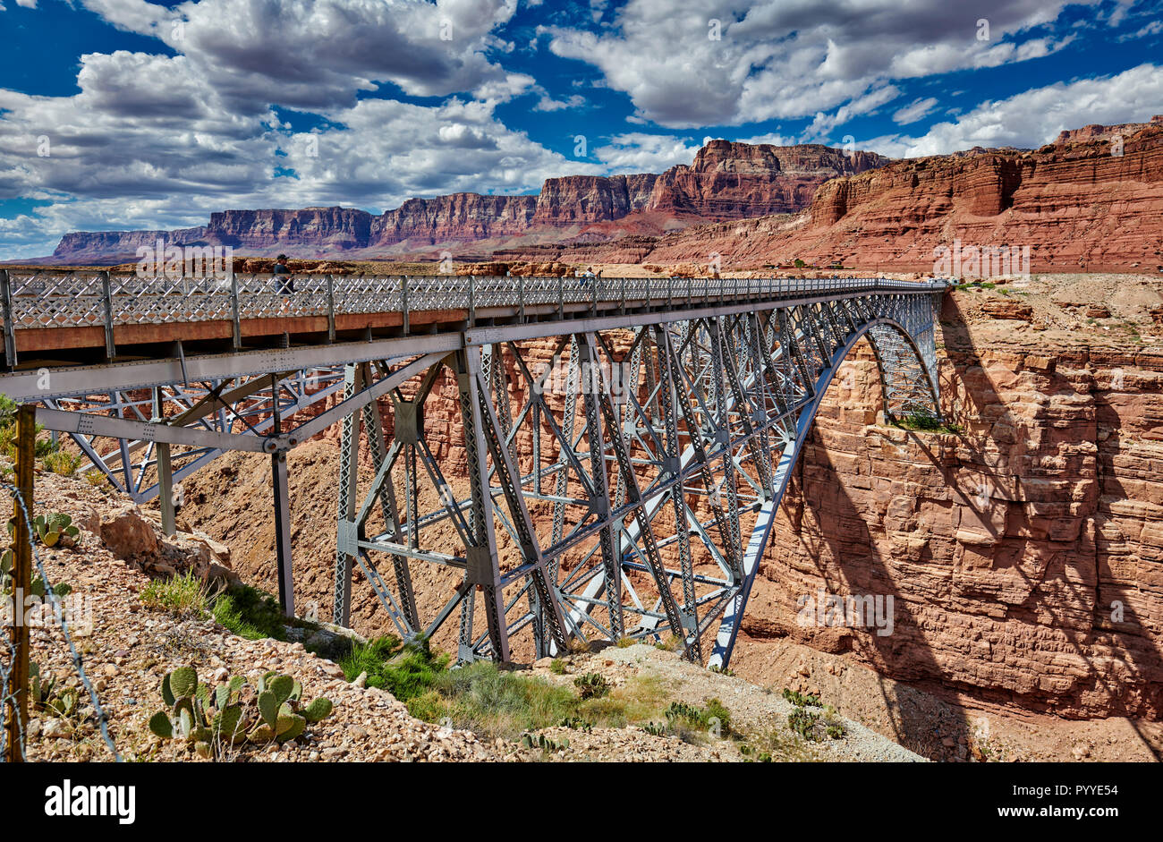 Navajo Bridge, Marble Canyon and Vermillion Cliffs, Arizona, USA, North America Stock Photo