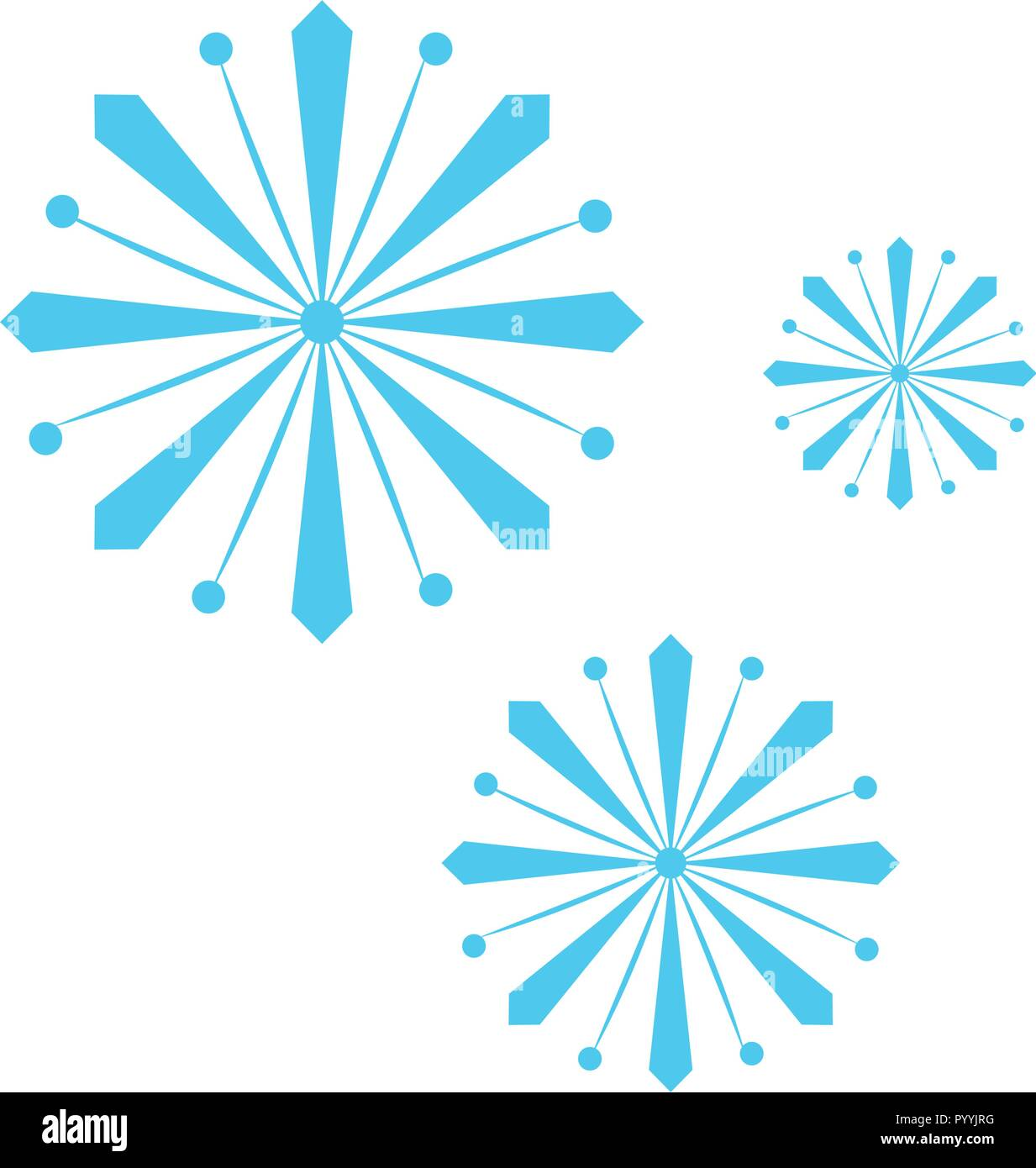 Isolated group of snowflakes Stock Vector Art & Illustration