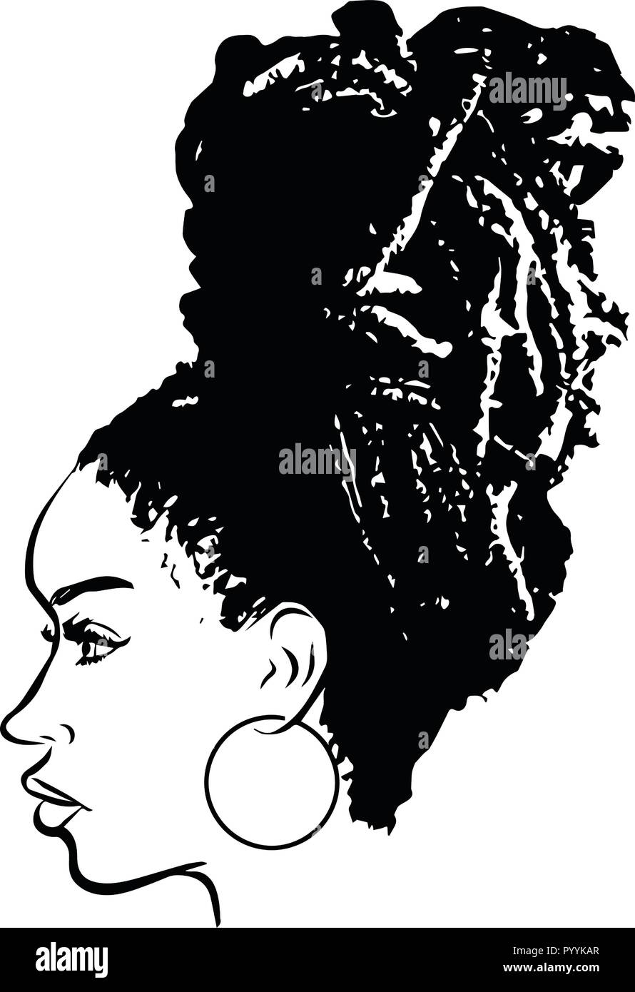 this are African American beautiful queen, divas Classy ladies - Stock Image