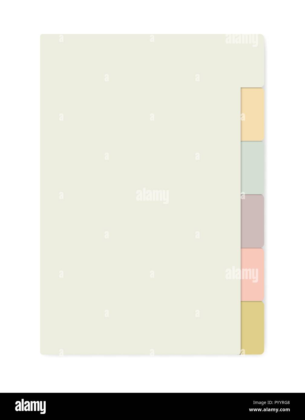 colored sheets with tab dividers notebook realistic vector mockup notepad with variegated side bookmarks template self stick memo pads block mock