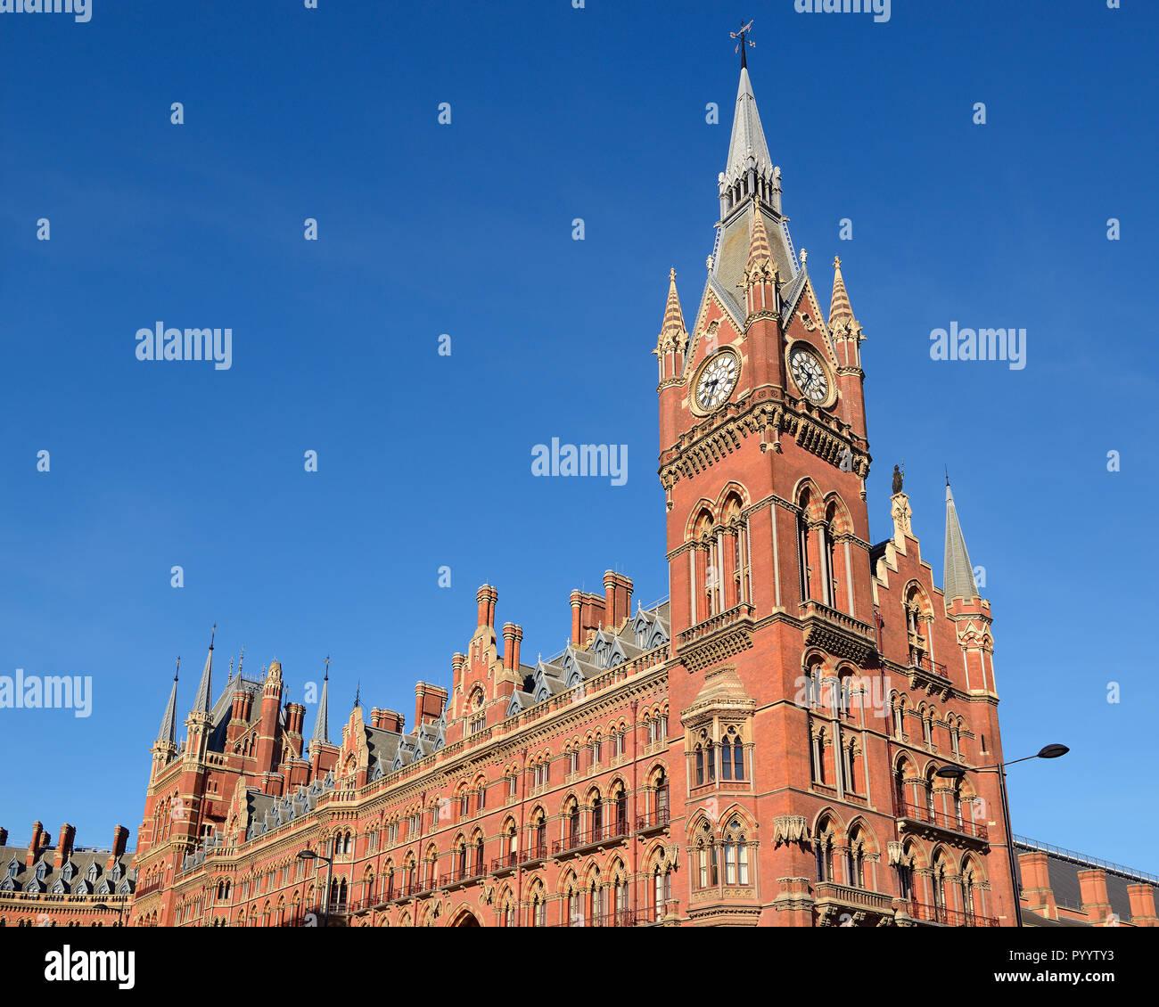 St Pancras Station, London, England, United Kingdom - Stock Image