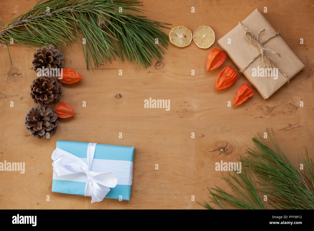 Christmas decorations Christmas tree gifts toys von Stock Photo ...