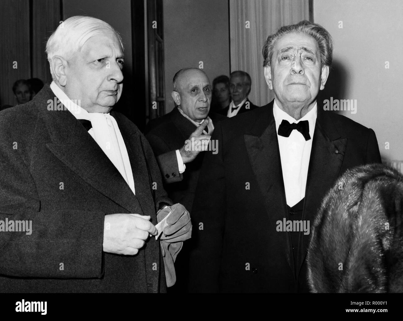 giorgio de chirico at the inauguration of the opera season, 1960 Stock Photo