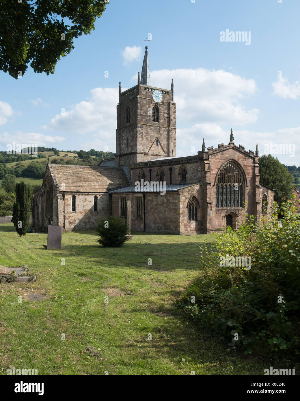 Wirksworth church, Derbyshire, UK - Stock Image
