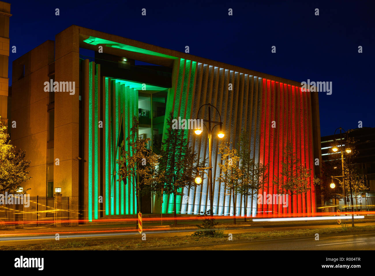 Festival of Lights, Mexican message, Klingelhöferstrasse, zoo, middle, Berlin, Germany, Mexikanische Botschaft, Klingelhoeferstrasse, Tiergarten, Mitt - Stock Image