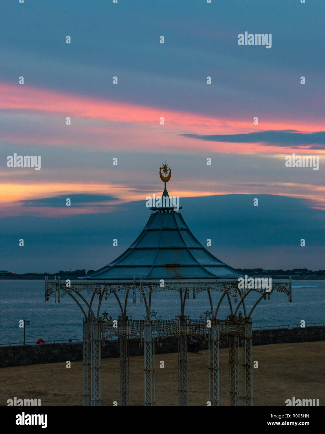 Southsea victorian bandstand at sunset, Southsea, Portsmouth - Stock Image