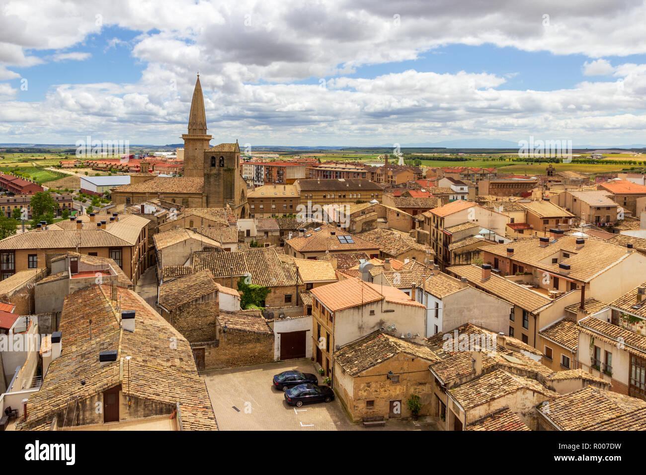 Spanish medieval village of Olite, Navarre, Spain Stock Photo