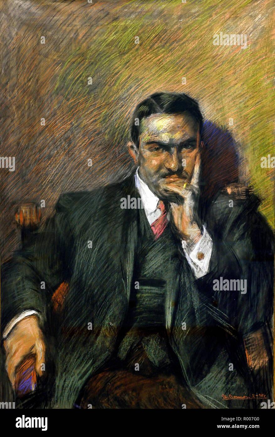 Portrait of Innocenzo Massimino 1908 Umberto Boccioni (1882-1916), Italy, Italian. - Stock Image