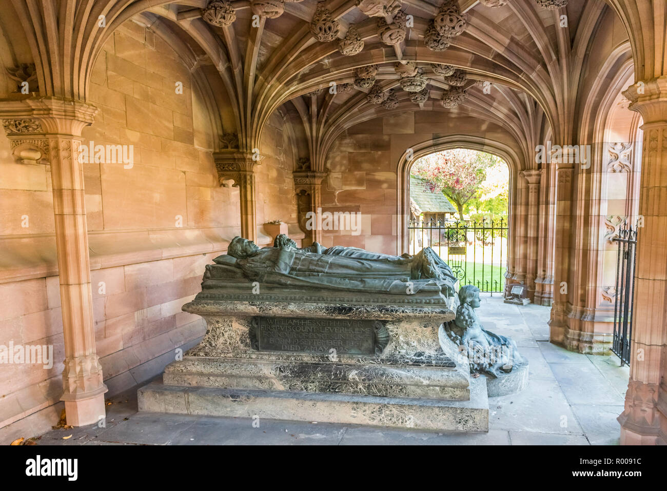 Lady Lever Memorial at Christ Church, Port Sunlight, Wirral, Merseyside - Stock Image