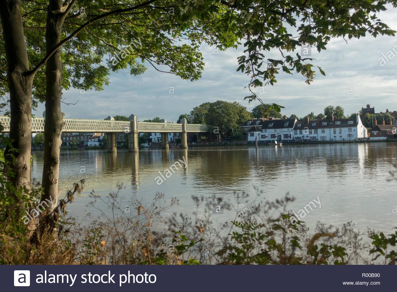 Kew Railway Bridge in London Stock Photo