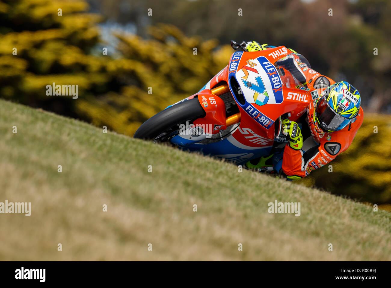 Friday, 26 October, 2018. Phillip Island, Australia. Moto2. Lorenzo Baldassarri, Pons HP Racing Moto2 Team. - Stock Image