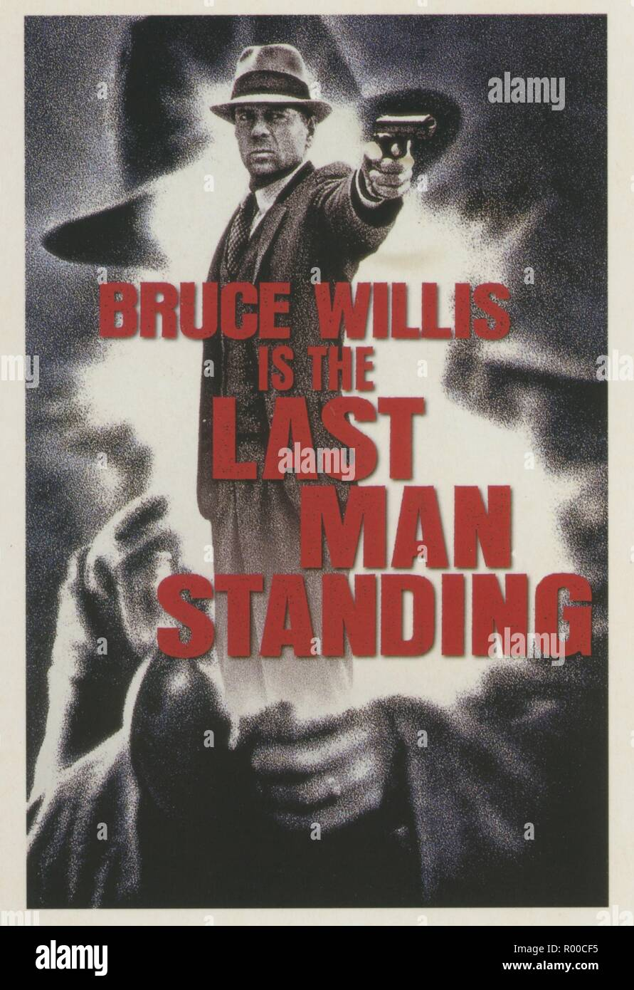 Last Man Standing Year : 1996 USA Director : Walter Hill Bruce Willis Poster (USA)  New Line Cinema - Stock Image