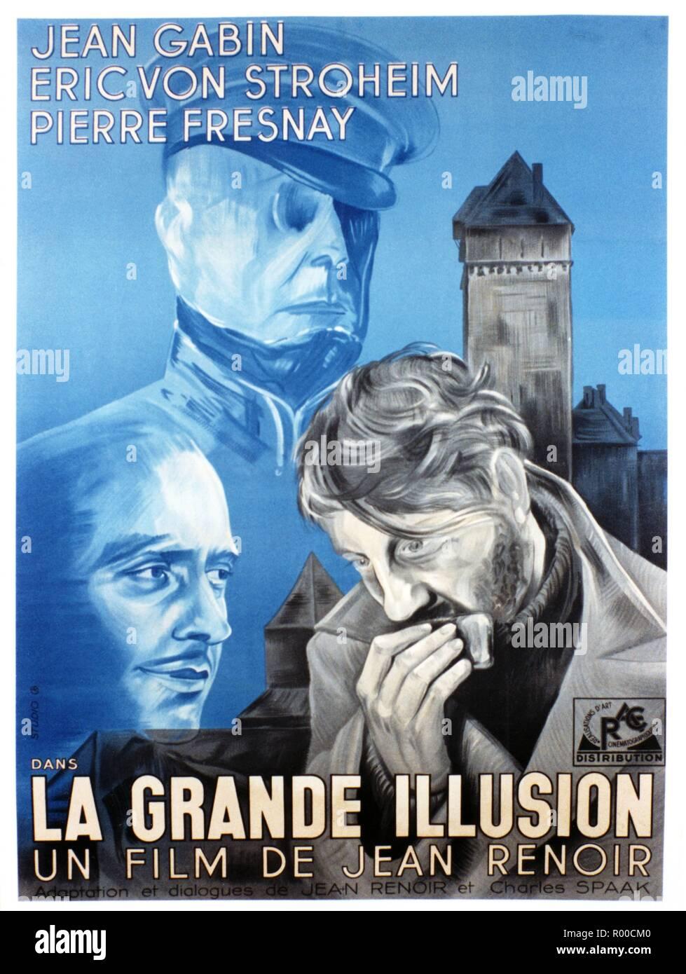 LA GRANDE ILLUSION MOVIE POSTER 1937 Jean Gabin VINTAGE