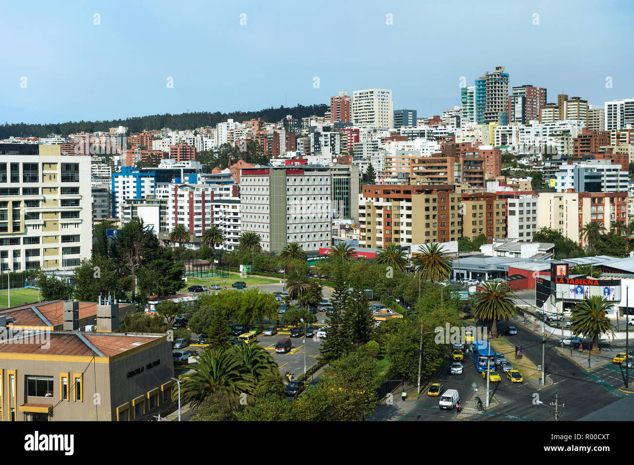 New residential areas in  Quito, capital of Ecuador - Stock Image