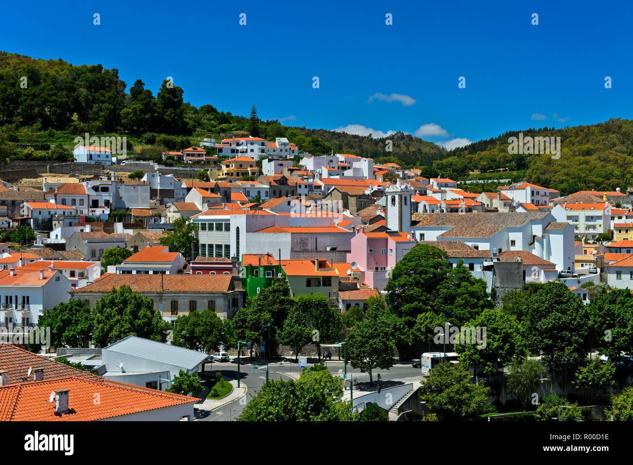 Town centre of Monchique, Algarve, Portugal - Stock Image