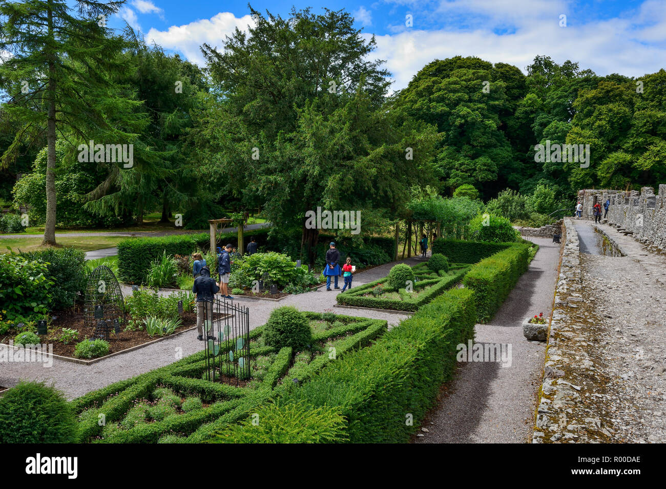Poison Garden at Blarney Castle, near Cork in County Cork, Republic of Ireland - Stock Image