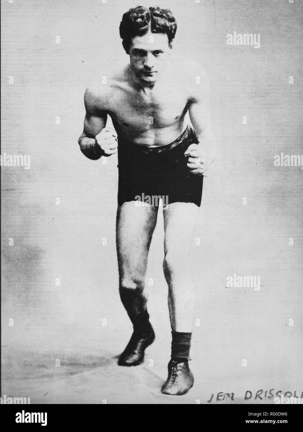 Peerless James Jim Driscoll (1880-1925) British Featherweight Champion born in Cardiff, Wales, UK, considered one of the greatest British boxers - Stock Image