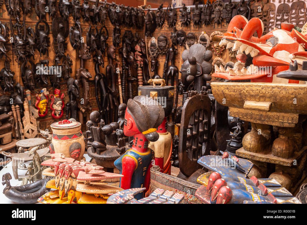 SIAO Ouagadougou, International Arts and Handicrafts Trade Show, regional Fair, 26 Oct. - 04 Nov. 2018, Ougadoungou, Burkina Faso, Africa Stock Photo