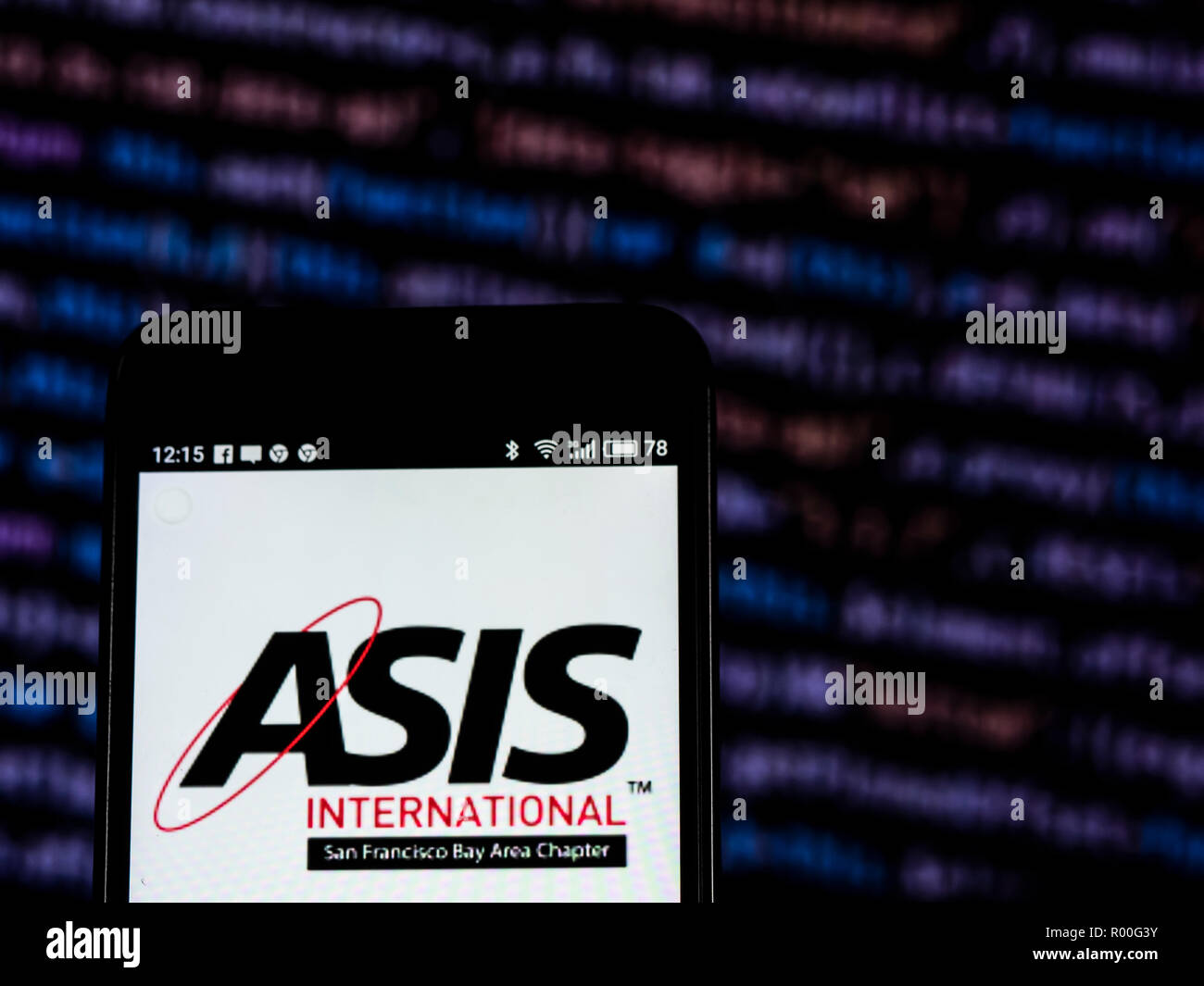 ASIS International Professional organizations company logo seen displayed on smart phone. ASIS International is a professional organization for security professionals. It issues various certifications, standards, and guidelines for the security profession. - Stock Image