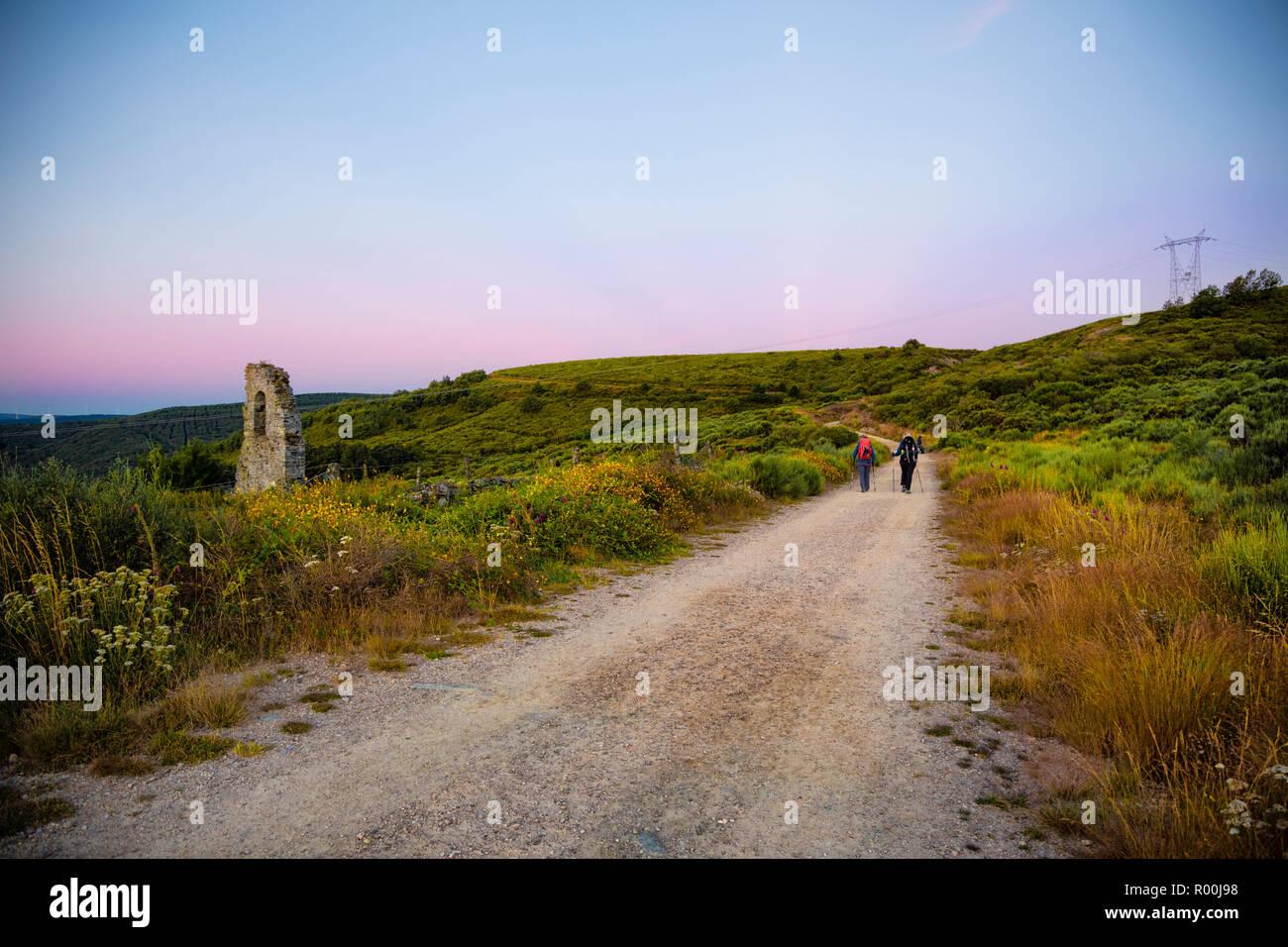 Camino de Santiago (Spain) - Along the way of St.James Stock Photo
