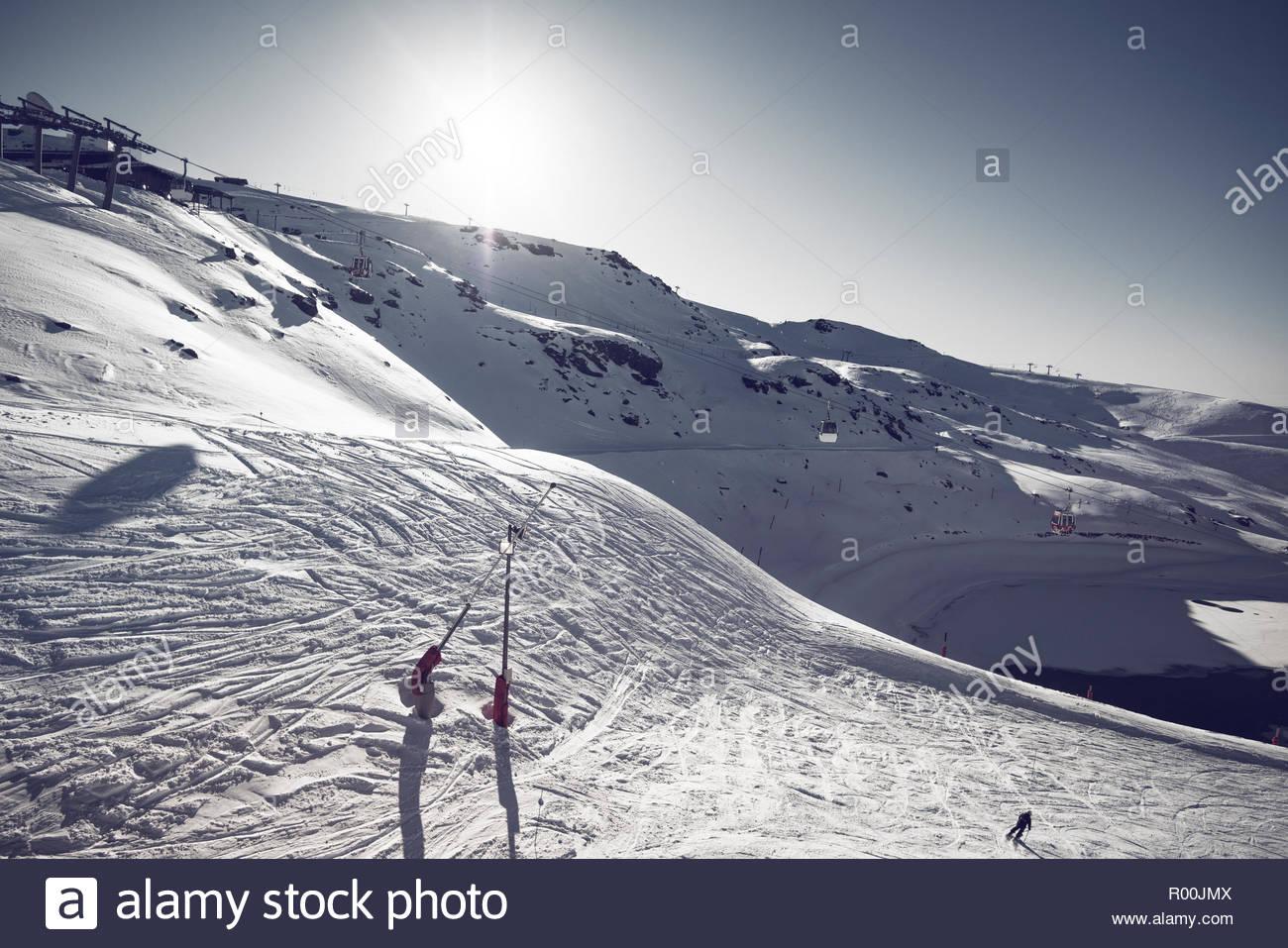 Ski field in Spain Stock Photo