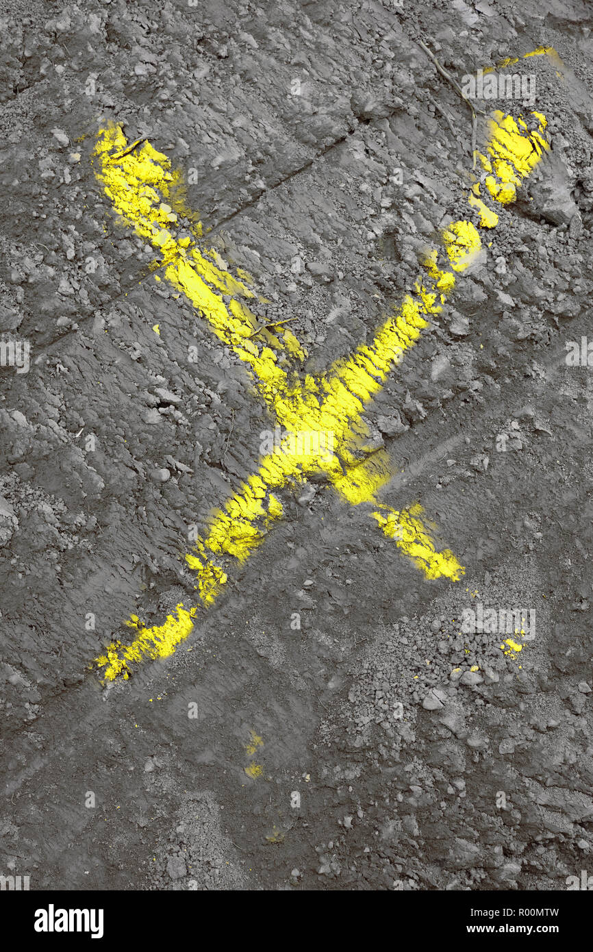 THE COLORFUL X .MARK . SYMBOL - Stock Image