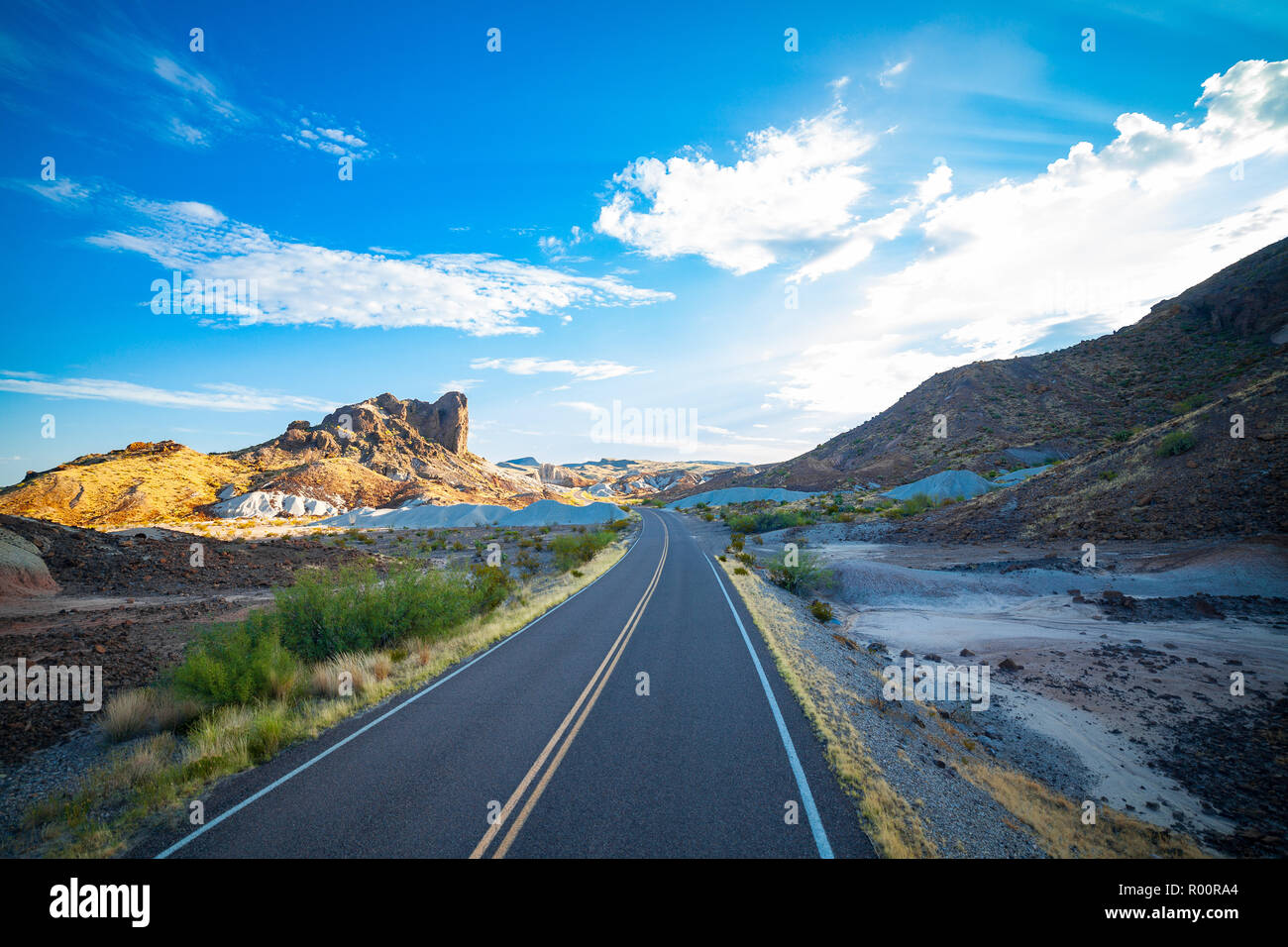Mountains of the Ross Maxwell Scenic Drive. - Stock Image